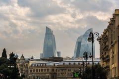 Baku interno - construções fantásticas foto de stock royalty free