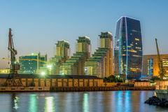 Baku - JULI 10, 2015: Port Baku på Juli 10 i Baku, Azerbajdzjan Royaltyfri Fotografi
