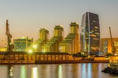 Baku - JULI 10, 2015: Port Baku på Juli 10 i Baku, Azerbajdzjan Royaltyfria Foton