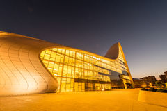 BAKU- JULY 20: Heydar Aliyev Center on July 20 Royalty Free Stock Photo