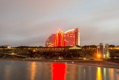 Baku - JUNE 29, 2015: Jumeirah Hotel on June 29 in Baku, Azerbai Royalty Free Stock Photography