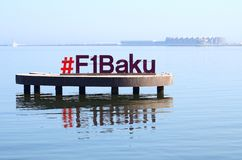 Baku, la ciudad en donde se celebran las razas de f?rmula 1 Baku City Circuit imagenes de archivo