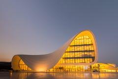 BAKU LIPIEC 20: Heydar Aliyev centrum na Lipu 20 Zdjęcia Royalty Free