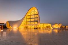 BAKU LIPIEC 20: Heydar Aliyev centrum na Lipu 20 Obrazy Stock