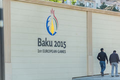 BAKU - 10. MAI 2015: Erste europäische Spiele im Mai Lizenzfreies Stockfoto