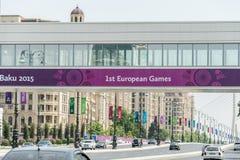 BAKU - 10. MAI 2015: Erste europäische Spiele im Mai Stockfotografie