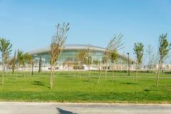 BAKU - MAJ 10, 2015: Baku Aquatics mitt på Maj Royaltyfri Bild
