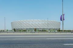 BAKU - MAJ 10, 2015: Baku Olympic Stadium på Maj Fotografering för Bildbyråer