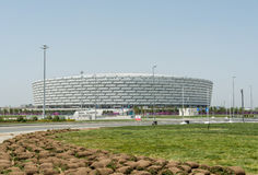BAKU - MAJ 10, 2015: Baku Olympic Stadium på Maj Royaltyfri Foto