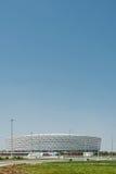 BAKU - MAJ 10, 2015: Baku Olympic Stadium på Maj Royaltyfri Bild