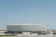 BAKU - MAJ 10, 2015: Baku Olympic Stadium på Maj Arkivbild