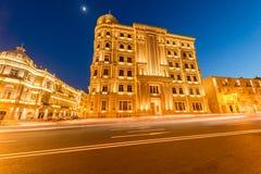 Baku - MAJ 27, 2015: Heydar Aliyev fondHQ på Maj 27 i Baku, Az Arkivbild