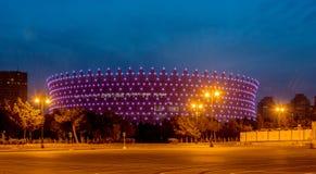 BAKU - MAJ 10, 2015: Heydar Aliyev Sports Complex Royaltyfria Bilder