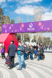 Baku - MARCH 21, 2015: 2015 European Games posters Royalty Free Stock Images
