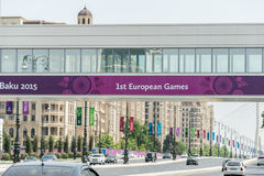 BAKU - MAY 10, 2015: First European Games on May Stock Photography