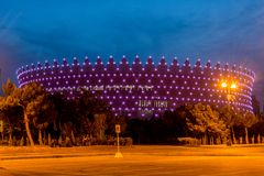 BAKU - MAY 10, 2015: Heydar Aliyev Sports Complex Stock Images