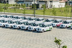 BAKU - MAY 10, 2015: London Cabs on May 10 in BAKU Stock Image
