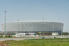 BAKU - MEI 10, 2015: Baku Olympic Stadium op Mei Stock Foto