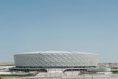 BAKU - MEI 10, 2015: Baku Olympic Stadium op Mei Stock Fotografie