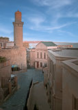 baku miasta minaret stary Obrazy Stock