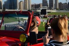 Baku miasta samochodów stara fotografia obraz stock