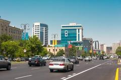 Baku miasta ulicy Zdjęcia Stock