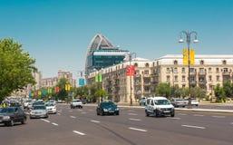 Baku miasta ulicy Zdjęcie Royalty Free