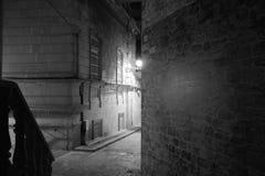 Baku by night, monochrome architecture, night scene, azerbaijan Royalty Free Stock Photo
