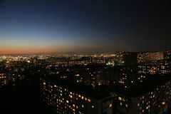 Baku night view Royalty Free Stock Image