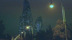 Baku noce Obrazy Stock