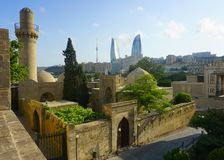 Baku Old Cityscape Panoramic View image libre de droits