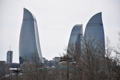Baku płomień Góruje Zdjęcie Royalty Free