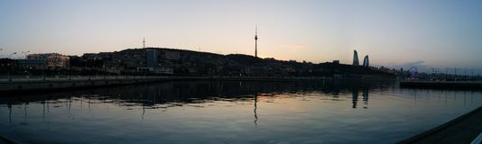 Baku panorama Zdjęcia Royalty Free
