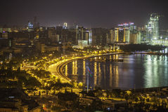 Baku panorama with highland park Royalty Free Stock Photography