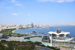 Baku,panoramic view from the mountain park stock photo
