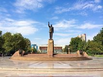 Baku parks, Monument to Heydar Aliyev Stock Image