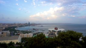 Baku Scenic Afternoon City View. Baku Scenic Afternoon City Common View of the Coastal Districts stock video footage