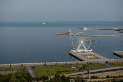 Baku seafront from above Stock Image