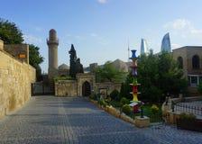 Baku Shirvanshahs Famous Entrance View stock images