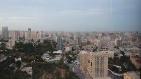 Baku skyline stock footage