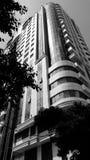 Baku city Yeni Hayat skyscraper. New Life Residence building in downtown baku Stock Photos