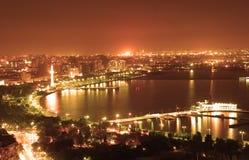 baku stad Arkivfoto