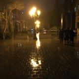 Baku stadsregn Arkivfoton