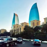 Baku straat stock foto's