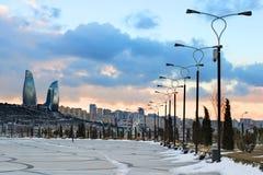 Baku Sunset stockbild