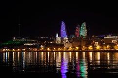 Baku widok od morza Zdjęcie Stock