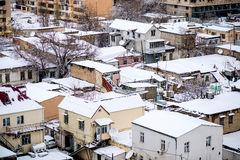 Baku Winter Scene Photo stock