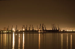 Baku zeehaven Royalty-vrije Stock Foto's