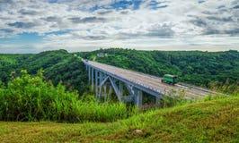 Bakunagua Bridge, Matanzas Province, Cuba stock photo