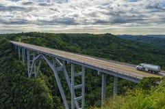Bakunagua桥梁,马坦萨斯省,古巴 免版税库存图片
